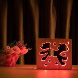 """Светильник ночник ArtEco Light из дерева LED """"Сказочный пони"""" с пультом и регулировкой цвета, RGB"""