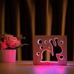 """Светильник ночник ArtEco Light из дерева LED """"Улитка"""" с пультом и регулировкой цвета, двойной RGB"""